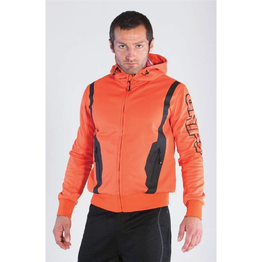 Grips Zip Hoodie Polar Fleece - orange